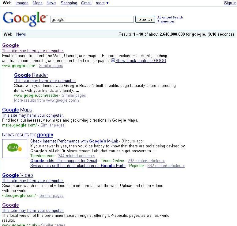 Google events, news, bugs, caffeine, panda, rank and pagerank updates