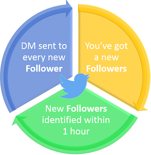 Twitter Auto DM to a new Followers how it works